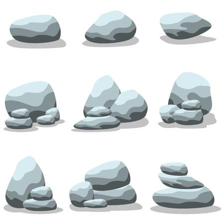 large formation: Set of rock  art illustration collection