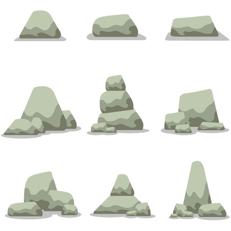 stock art: Stone set collection stock art illustration