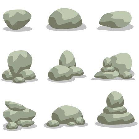 large formation: Design rock stone set element of  illustration Illustration