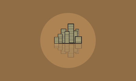 city building: Vector flat of icon building city illustration Illustration