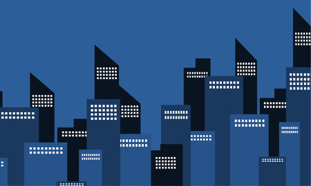 city building: Many building city of silhouette vector illustration