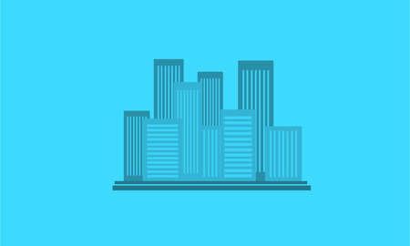 city building: Silhouette of city with building landscape vector