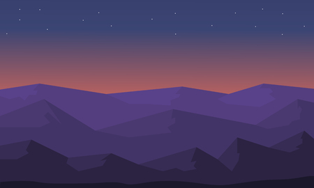 ridges: Beautiful landscape hill silhouette vector illustration collection Illustration
