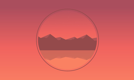 ridges: Mountain icon landscape of silhouette vector illustration