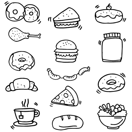 Doodle of food and drink object