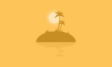 sihlouette: Silhouette of islands with reflection vector illustration Illustration