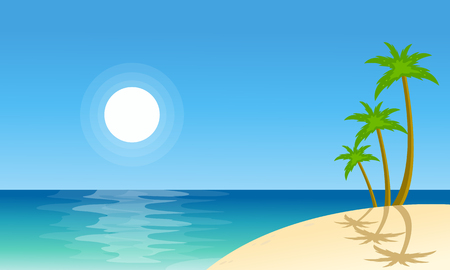 canary islands: Collection stock beach scenery vector flat illustration Illustration