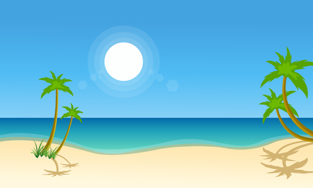 Vector illustration of beach scenery collection stock Illustration