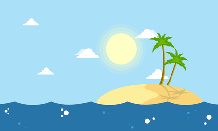 Cartoon islands landscape collection stock vector illustration