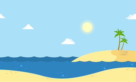 canary islands: Seaside beautiful scenery cartoon vector collection stock Illustration