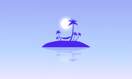 canary islands: Silhouette of islands beautiful landscape vector illustration Illustration