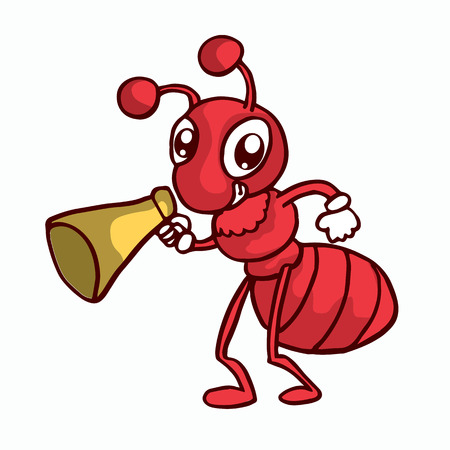 Red Ant T-shirt design vector art collection stock