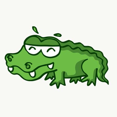 Funny crocodile design for kids vector illustration