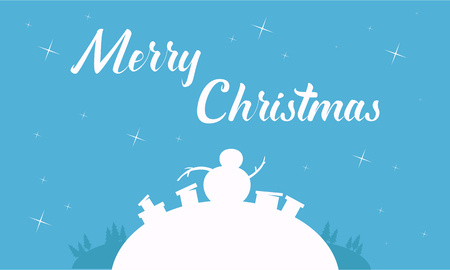 wintery: Silhouette of gift and snowman christmas backgrounds