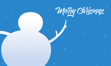 wintery: Merry Christmas snowman vector flat collection stock