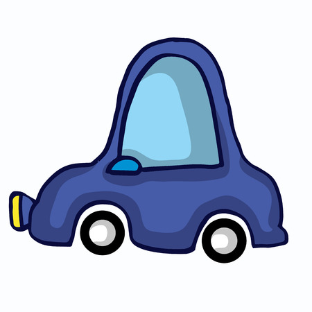 mode: FUnny car style for kids vector illustration