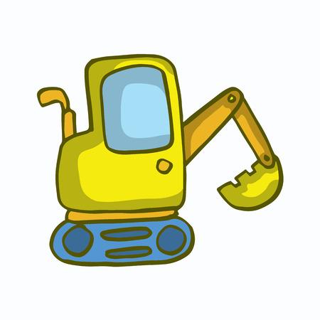 Small excavator cartoon design for kids vector illustration