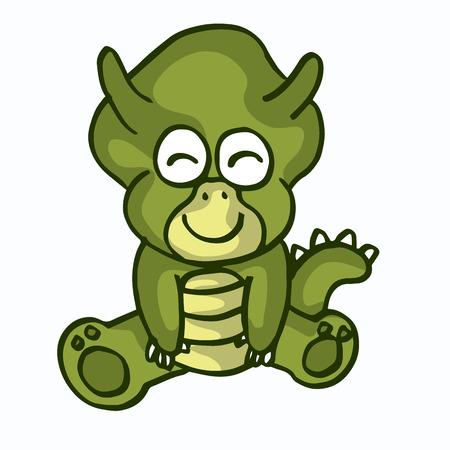 illustration of Cartoon dinosaur vector collection stock
