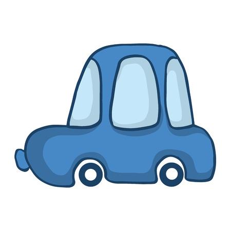 bodywork: Blue car for kids design vector illustration Illustration