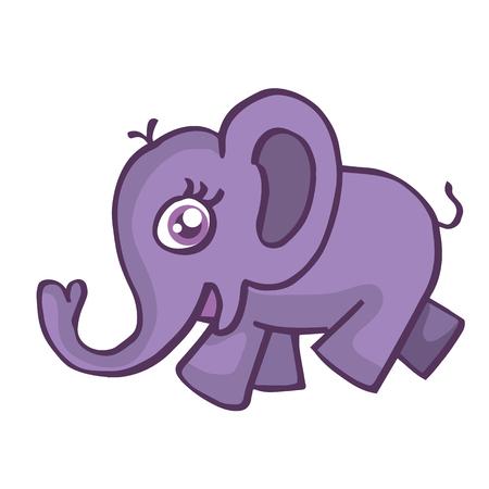 Elephant smiling cartoon vector illustration for kids design Illustration