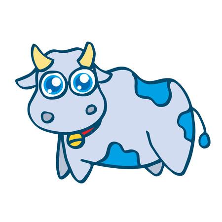 cute cow: Cute cow cartoon design for kids vector