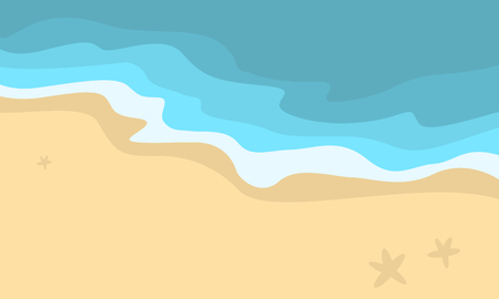 canary islands: Vector illustration of beach scenery collection stock Illustration