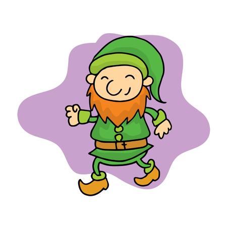Little Christmas elf cartoon collection vector art