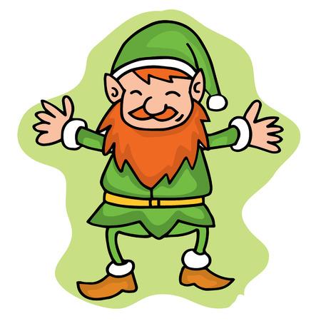 hilarious: Elf style collection Christmas theme vector art Illustration