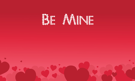 Be Mine valentine theme vector art collection stock