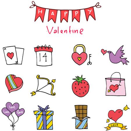 days: Element of valentine days vector art illustration