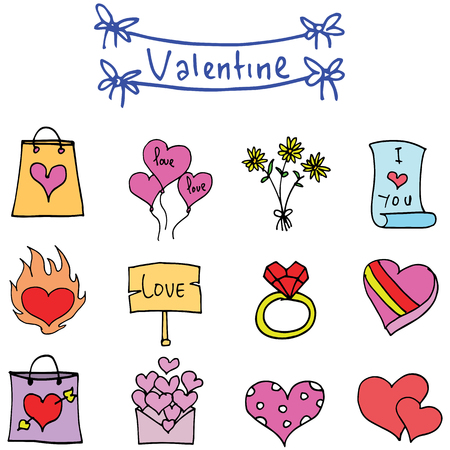 days: Object valentine days various collection vector art