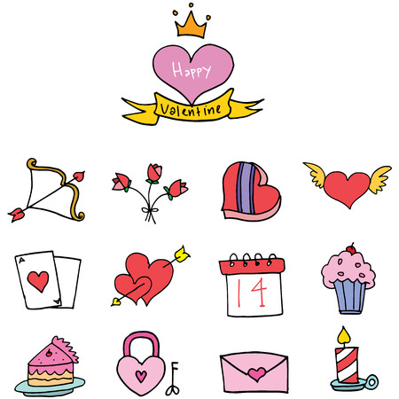 days: Illustration of valentine days collection stock vector