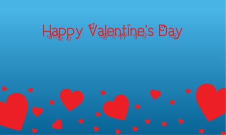 Landscape of valentine on blue backgrounds vector art