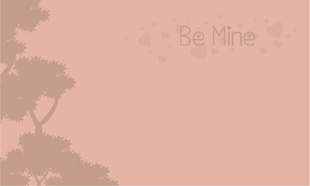 Be mine landscape with tree collection stock Illustration
