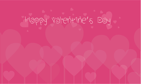 Vector art of valentine day backgrounds collection stock