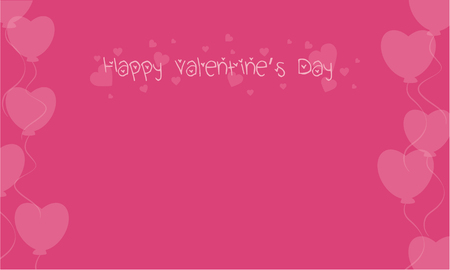Happy Valentine on pink backgrounds collection stock Illustration