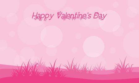 Landscape with grass valentine backgrounds illustration vector