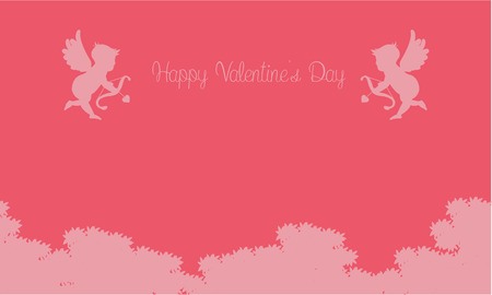 Illustration of cupid on sky valentine backgrounds vector art