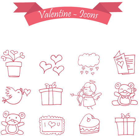 days: Vector illustration of valentine days collection stock