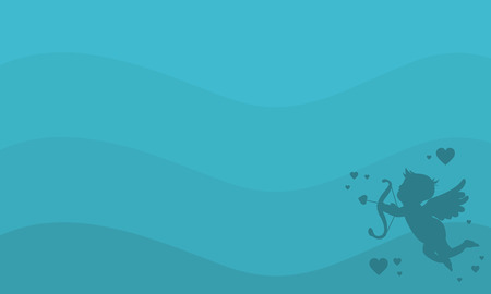 Cupid background for valentine day vector illustration