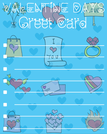 Card for valentine day design collection vector illustration
