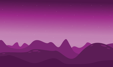 lifeless: Lifeless landscape with mountain vector illustration collection