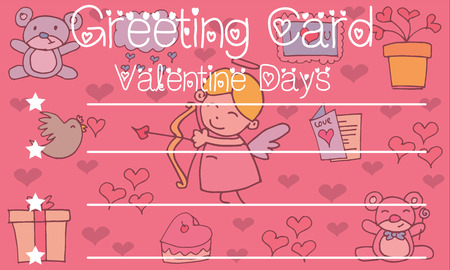 greeting card background: Greeting card valentine background vector collection stock Illustration