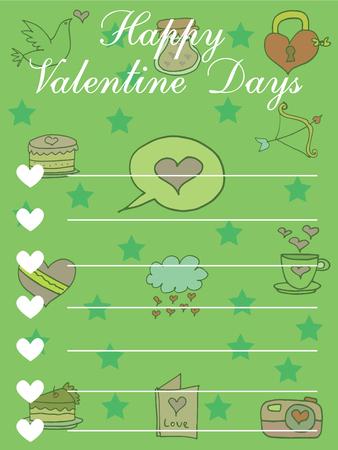 greeting card background: Illustration of valentijne background greeting card vector Illustration
