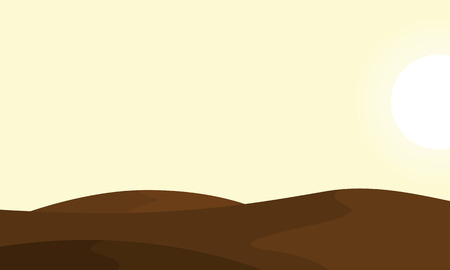 Landscape of desert backgrounds vector collection stock 向量圖像