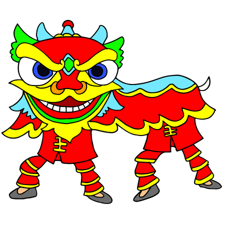 new year celebration: Chinese New Year Celebration Lion Dance