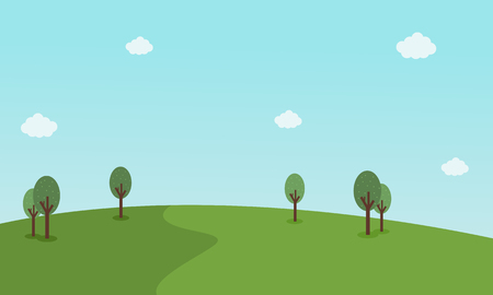 Vector illustration of green landscape collection stock