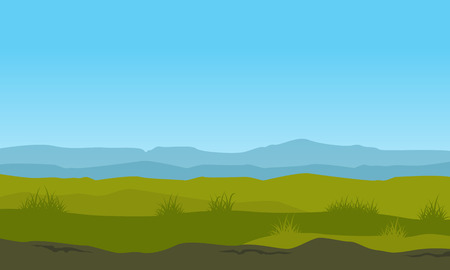 nature landscape with mountain background illustration vector