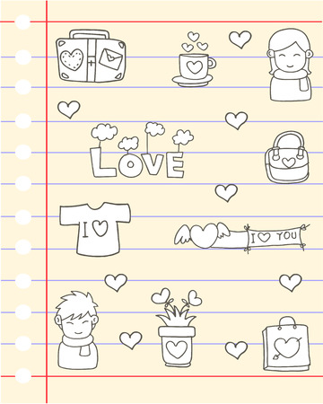 papaer: Love design papaer of doodles hand draw