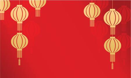 backgruond: Yellow lanterns backgruond Chinese New Year illustration